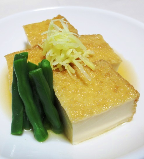絹揚げ豆腐の炊いたん B
