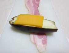 ナスのベーコンチーズ焼き 調理②