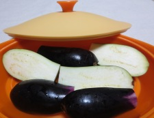ナスのベーコンチーズ焼き 調理①