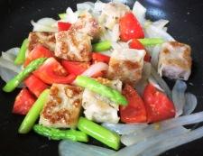 チルド焼売とトマトの生姜炒め 調理④