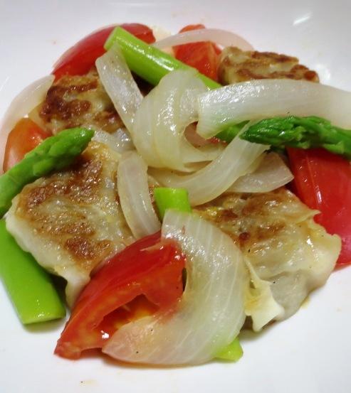 チルド焼売とトマトの生姜炒め B