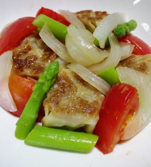チルド焼売とトマトの生姜炒め 拡大