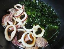 イカとわかめの柚子胡椒煮 調理③