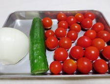 ミニトマトときゅうりの和風マリネ 材料