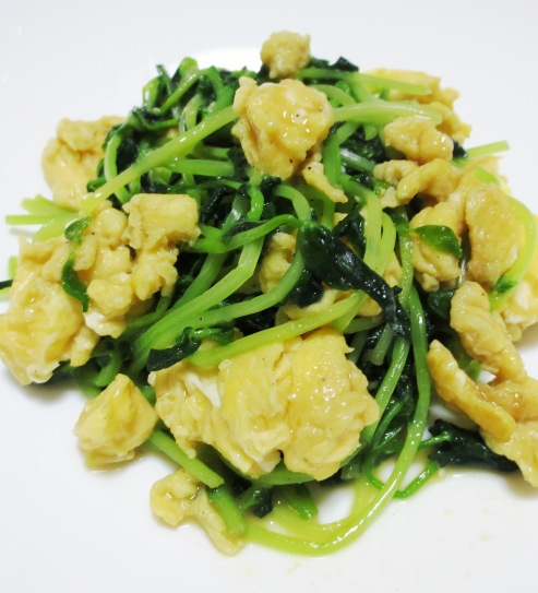 豆苗と炒り卵のソテー B