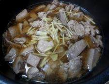 まぐろのアラ煮 調理②