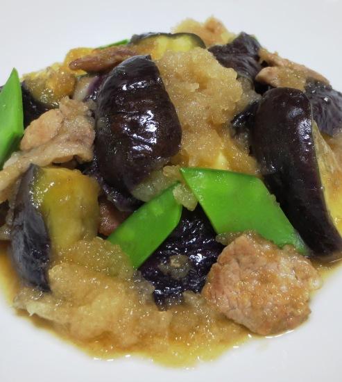 茄子と豚肉のおろし炒め 拡大