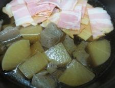 大根とベーコンの旨煮 調理②