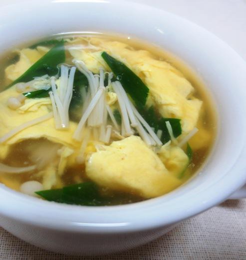 ニラと卵のスープ B
