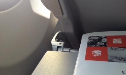 飛行機の中で3