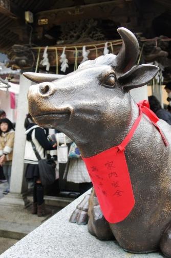 20140125 湯島天神 牛さん
