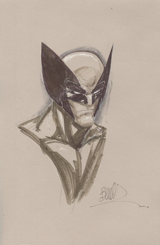 Joe Benitex Wolverine 11x17 grey Headshot