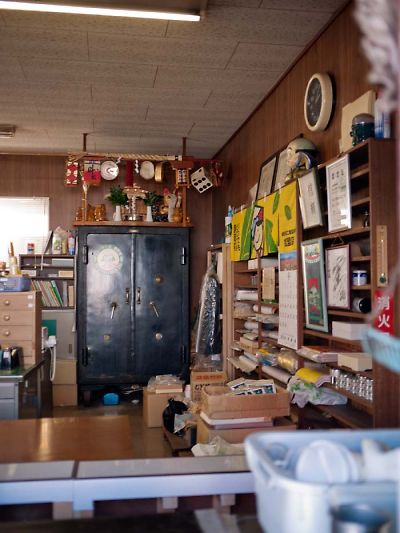 第一製茶かき氷 店内の金庫