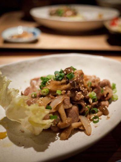 焼津 ジュモー ランチ 豚肉の照りマヨ炒め