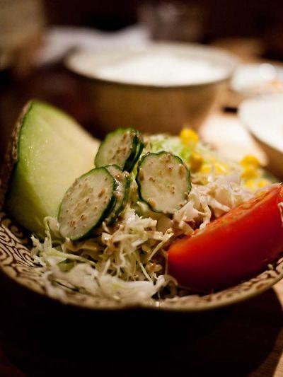 焼津 ジュモー ランチのサラダ