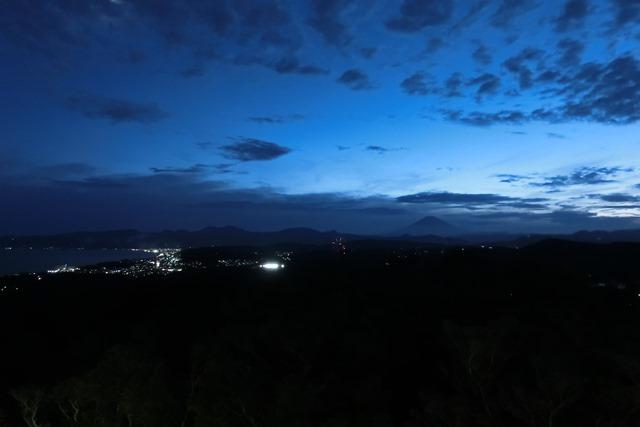 湘南平からの夕景 (小田原酒匂川花火大会)