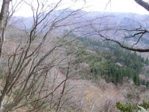 滝までの山道