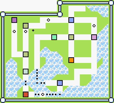 BGM毎に色分けした地図 町編