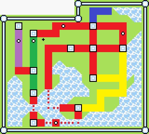BGM毎に色分けした地図 道路・水道編