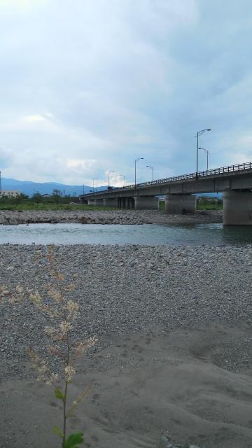 7月14日会津大川、高田橋から上流
