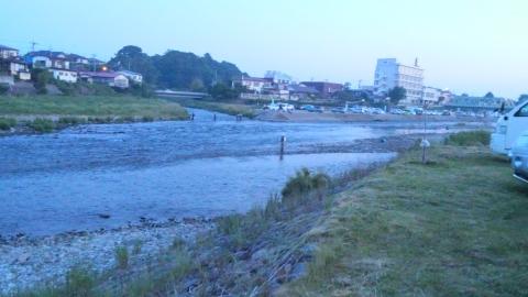 那珂川解禁の日の朝