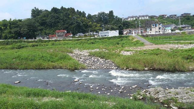 8月18日の白石川