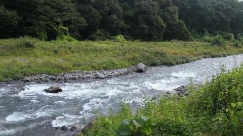 9月15日の那珂川晩翠橋下流
