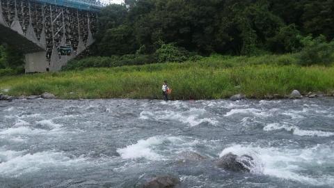 那珂川晩翠橋を下流から望む