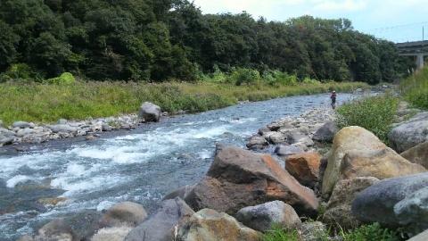 9月20日の那珂川晩翠橋下流