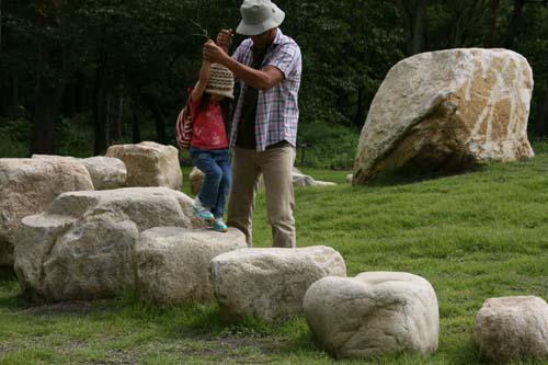 あづみの公園石ジャンプ