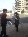 ビラまき@東北大入学式 お手本