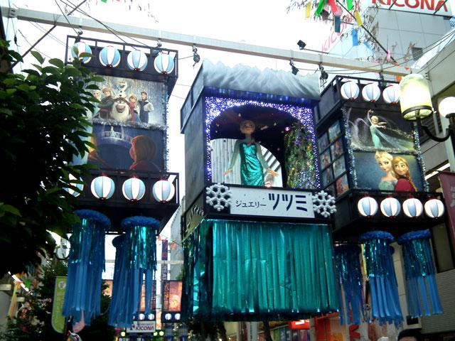 2014年湘南ひらつか七夕まつり・アナ雪(1)