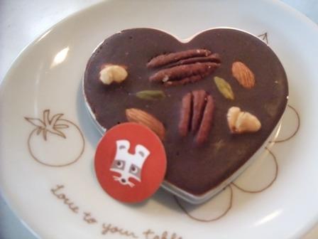 ハートの板チョコ