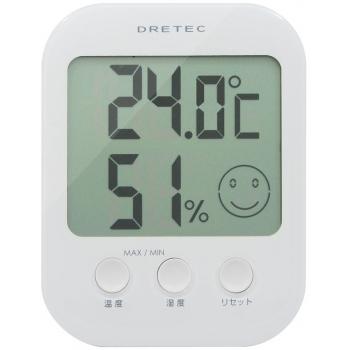 温湿度計ホワイト