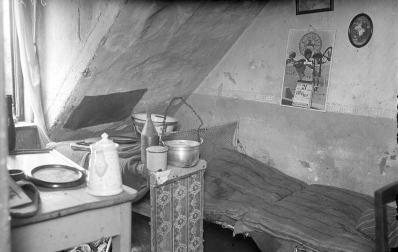 ハールマンが最後に過ごした下宿の屋根裏部屋