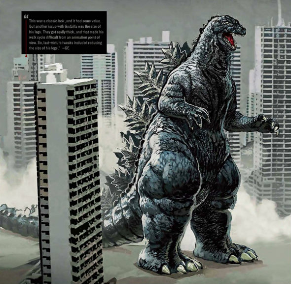 Early Concept Designs For Godzilla