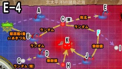 2014夏イベE4マップ