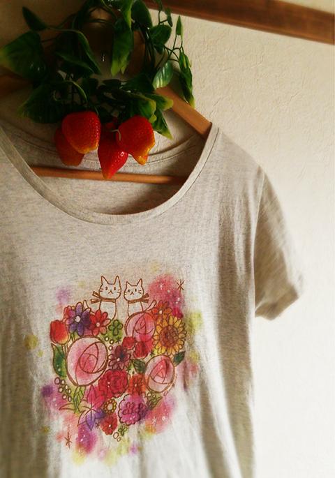 ちょこじろー_おやゆびねこTシャツ