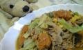 料理-くずれ鶏とキャベツと豆と南瓜の煮物-20140621