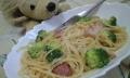 料理-ベーコンとブロッコリーのパスタ-20140704-17