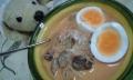 料理-茄子と崩れ鶏肉のトマトクリームスープゆで卵添え-20140706-22