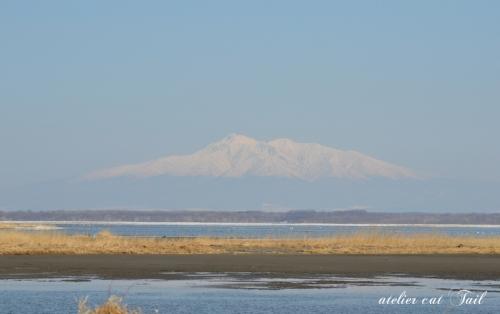 2014・4・23 濤沸湖から見た斜里岳♪