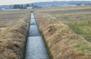 大坪用水、排水路