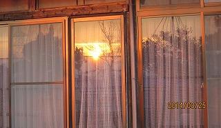 窓に映った