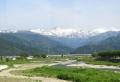 僧ヶ岳の雪絵