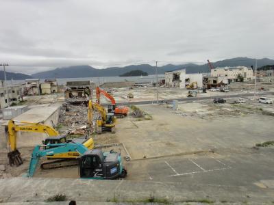 山田町震災後の町