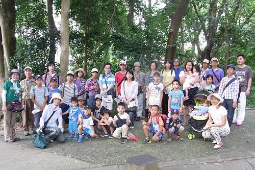 2014-7-27 八事クモ観察会-記念写真n-s