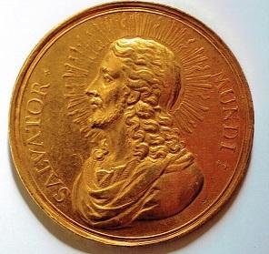 神聖ローマ帝国 1783年 ウィーン戦勝100年記念 10ドルカット・メダル キリスト像とウィーンの景観