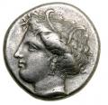 ペルセポネ  ロクリス テトラドラクマ銀貨 (11、9 g)360-350 BC