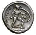 ペルセポネ 裏ロクリス テトラドラクマ銀貨 (11、9 g)360-350 BC